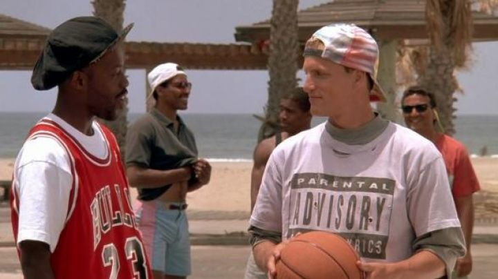 Parental Advisory Tee Shirt worn by Billy Hoyle (Woody Harrelson) as seen in White Men Can't Jump Movie