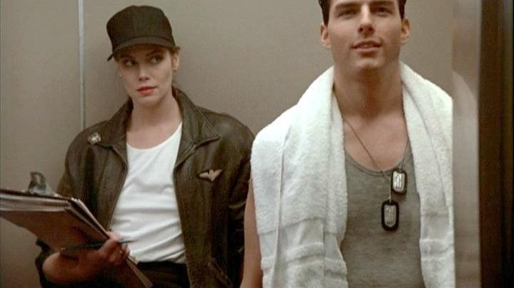 Fashion Trends 2021: Pilot black leather jacket worn by Charlie (Kelly McGillis) as seen in Top Gun