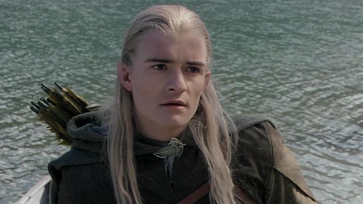 Pin elvish worn by Legolas (Orlando Bloom) in The lord of the rings : the fellowship of the ring Movie