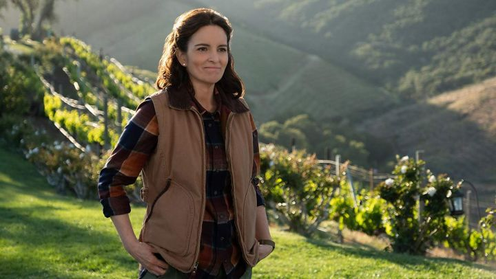 Plaid shirt worn by Tammy (Tina Fey) as seen in Wine Country movie