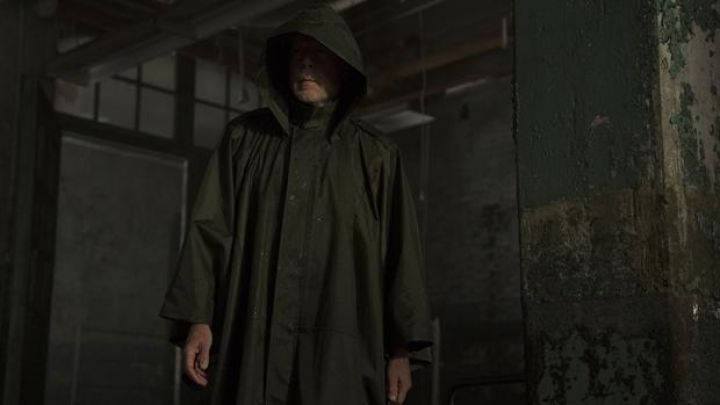 Poncho worn by David Dunn (Bruce Willis) in Glass movie