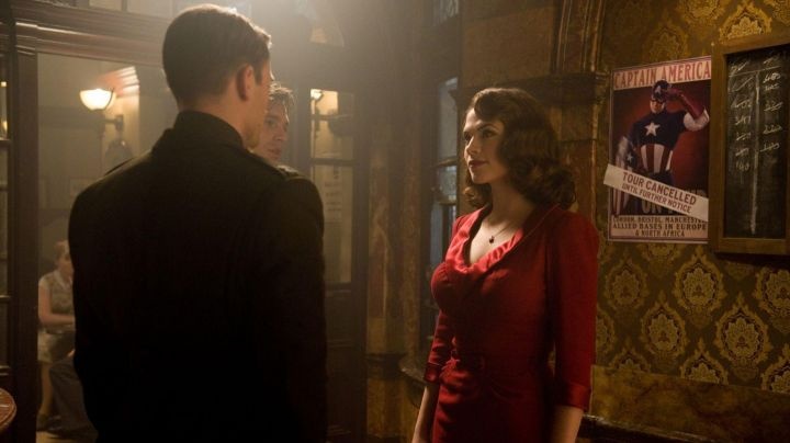 Fashion Trends 2021: Red Dress worn by Peggy Carter (Hayley Atwell) in Captain America: First Avenger