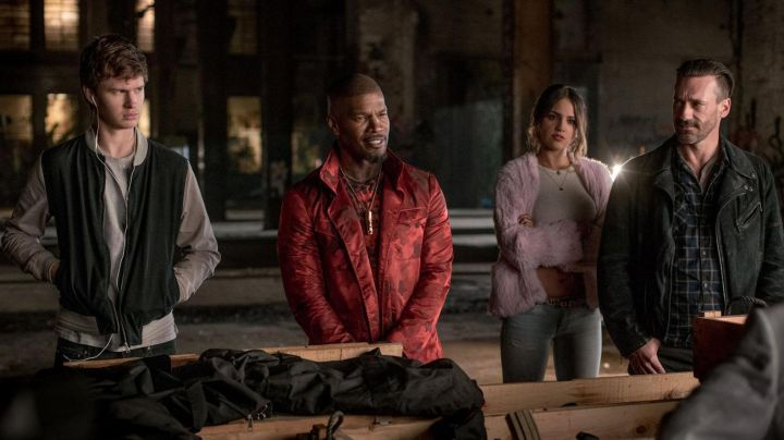 Fashion Trends 2021: Red Jacket worn by Bats (Jamie Foxx) as seen in Baby Driver