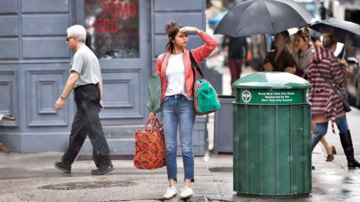 Red Jacket worn by Selena Gomez as seen in A Rainy Day in New York - Movie Outfits and Products