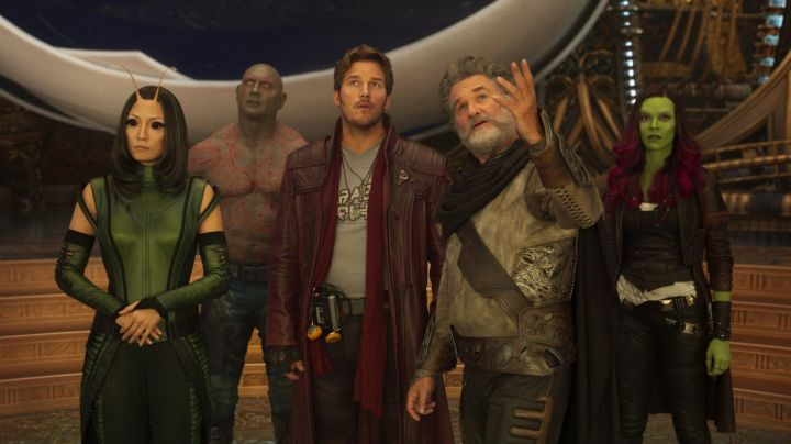 Red Jacket worn by Star Lord/Peter Quill (Chris Pratt) as seen in Guardians of the Galaxy Vol.2 - Movie Outfits and Products