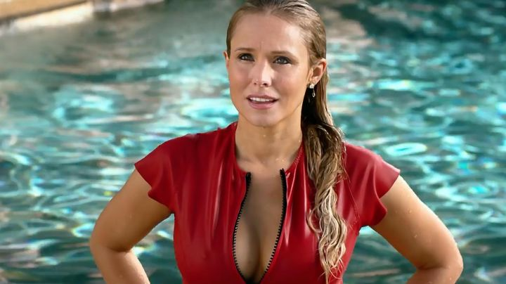Red Swimsuit worn by Karen (Kristen Bell) as seen in Chips - Movie Outfits and Products