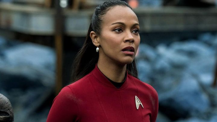 Red costume worn by Nyota Uhura (Zoe Saldana) as seen in Star Trek Beyond - Movie Outfits and Products