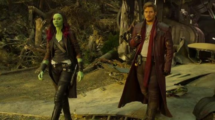 Fashion Trends 2021: Red leather trench coat worn by Star Lord (Chris Pratt) in Guardians of the Galaxy