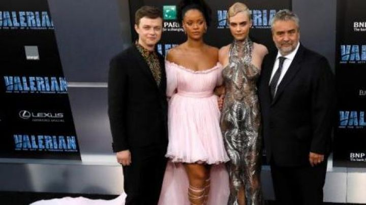 Rihanna dress at the premiere of Valérian and the city of ten thousand planets