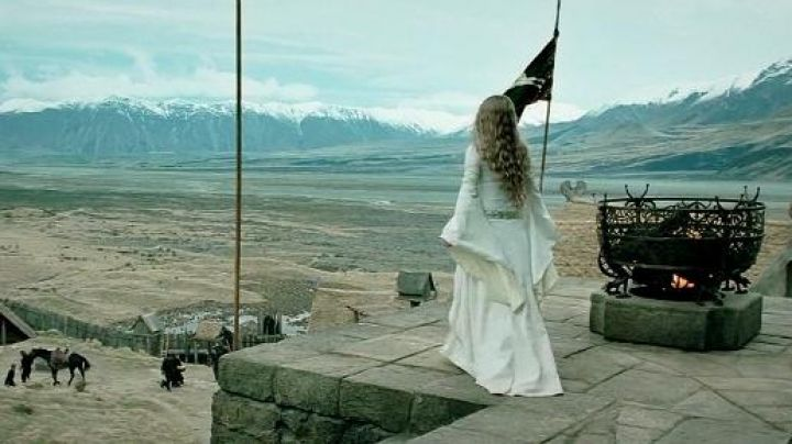 Rohan's flag as seen on the Lord of the Rings: The Two Towers - Movie Outfits and Products