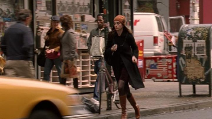 Rust Beanie worn by Andrea Sachs (Anne Hathaway) as seen in The Devil Wears Prada movie