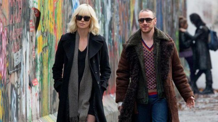 Fashion Trends 2021: Saint Laurent Black sunglasses worn by Lorraine Broughton (Charlize Theron) as seen in Atomic Blonde