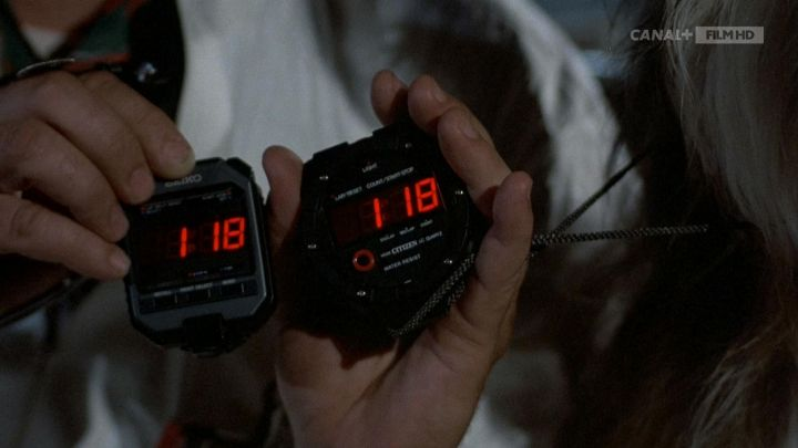 Seiko Stopwatch used by Dr. Emmett Brown (Christopher Lloyd) in Back to the Future Movie