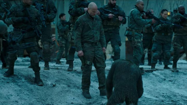 """Shoes of Colonel (Woody Harrelson) in """"The Planet of the apes : Supremacy"""" - Movie Outfits and Products"""