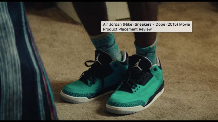 """Sneaker JORDAN III elephant print in """"DOPE"""" - Movie Outfits and Products"""