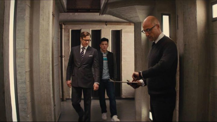 Sneakers Air Force 1 white Eggsy (Taron Egerton) in Kingsman : the Secret Service - Movie Outfits and Products