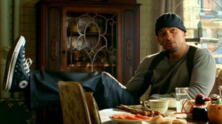 Sneakers Converse CT Hi Black leather officer Del Spooner (Will Smith) in I