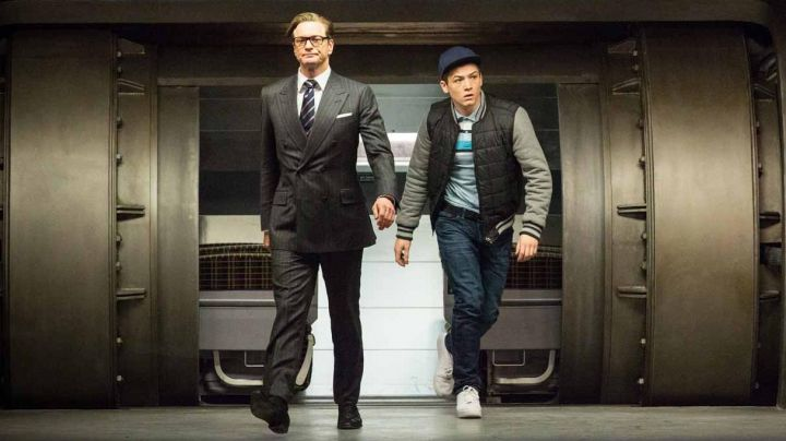 Fashion Trends 2021: Sneakers Nike Air Force one white Eggsy (Taron Egerton) in Kingsman : the Secret Service