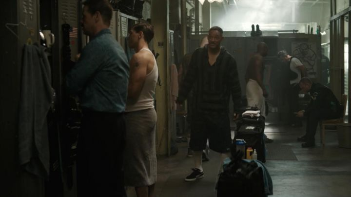 Sneakers Puma suede black Daryl Ward (Will Smith) in Bright - Movie Outfits and Products