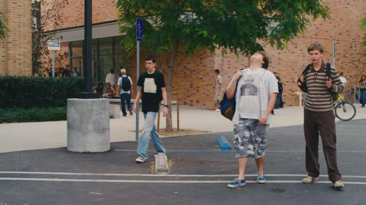 Sneakers Vans blue Seth (Jonah Hill) in Supergrave / Superbad - Movie Outfits and Products