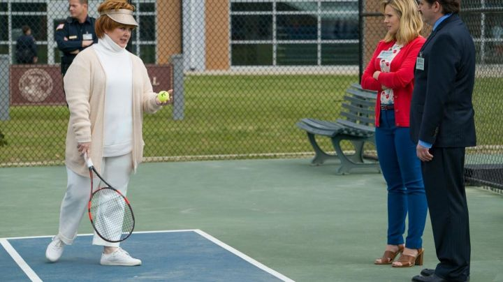 Sneakers white Via Spiga Michelle in The Boss - Movie Outfits and Products