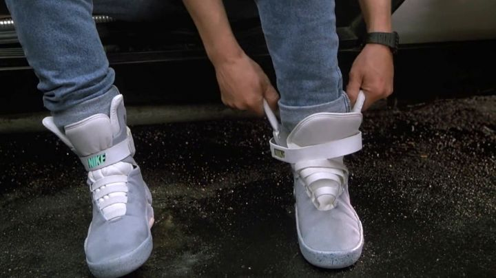Sneakers worn by Marty McFly (Michael J. Fox) as seen on Back to The Future Part II - Movie Outfits and Products