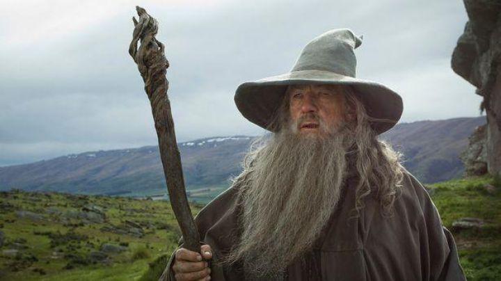 Staff of Gandalf (Ian McKellen) as seen in the Lord of the Rings: The Fellowship of The Ring - Movie Outfits and Products