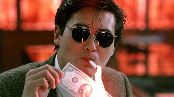 Sunglasses Alain Delon Paris of Mark Gor (Chow Yun-fat) in The Crime Syndicate - Movie Outfits and Products