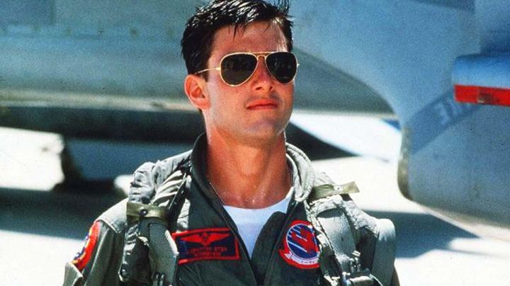 Sunglasses Aviator Pete Maverick (Tom Cruise) in Top Gun - Movie Outfits and Products
