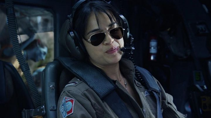 Sunglasses aviator Trudy Chacon (Michelle Rodriguez) in Avatar movie