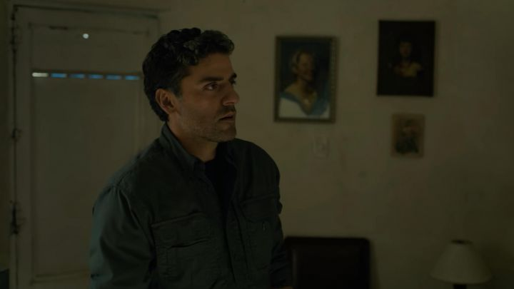 Tactical shirt worn by Santiago 'Pope' Garcia (Oscar Isaac) as seen in Triple Frontier movie