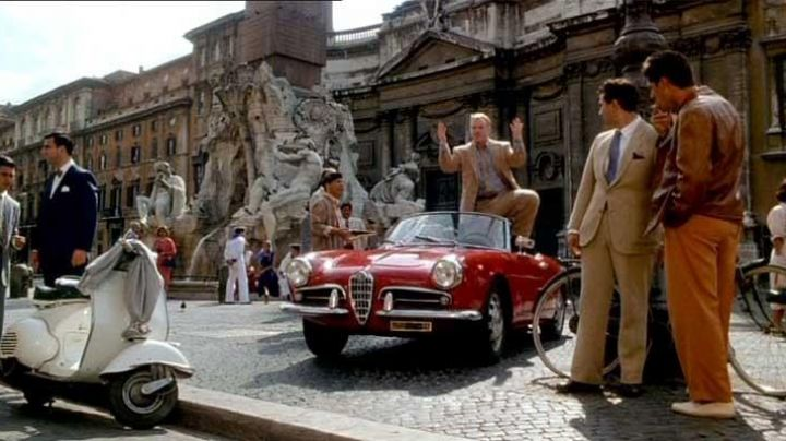 The 1955 Alfa Romeo Giulietta Spider in The Talented Mr. Ripley - Movie Outfits and Products