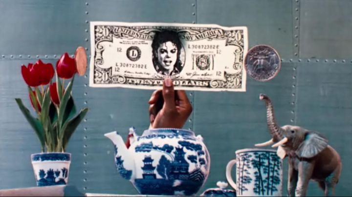 The$ 20 bill, stamped Michael Jackson for Leave Me Alone in Moonwalker - Movie Outfits and Products