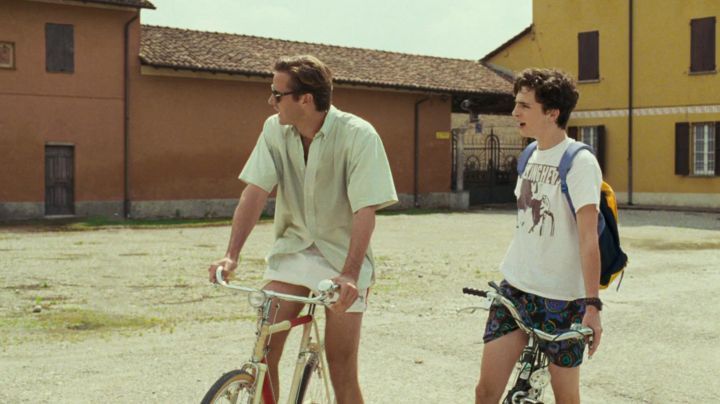 The Adidas shorts white Oliver (Armie Hammer) in Call me by your name Movie