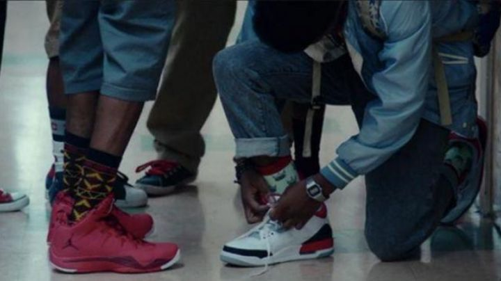 The Air Jordan shoes white of Malcolm in Dope - Movie Outfits and Products