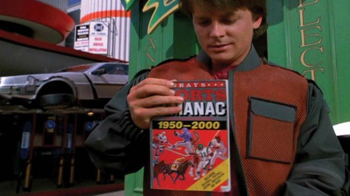 The Almanac Grays Sports by Michael J. Fox in Back to the future movie