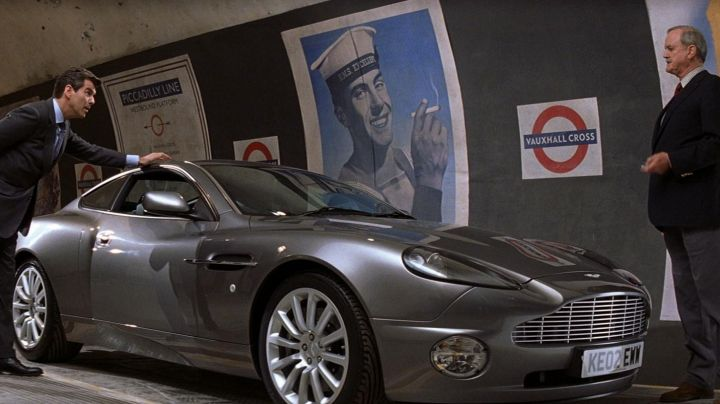 The Aston Martin V12 Vanquish from Brosnan in Die another day movie