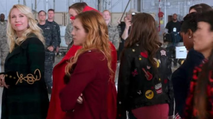 The Banana Patch worn by Beca Mitchell (Anna Kendrick) as seen in Pitch Perfect 3 - Movie Outfits and Products