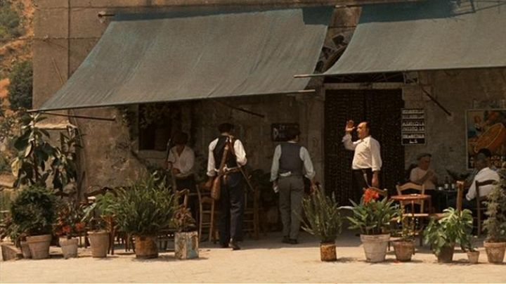 The Bar Vitelli in Savoca in Sicily in The Godfather - Movie Outfits and Products
