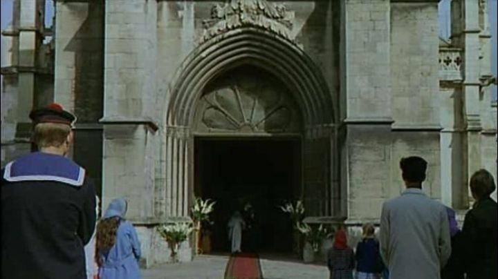The Basilica of the Holy Trinity, Church Street in Cherbourg-Octeville in The umbrellas of Cherbourg - Movie Outfits and Products