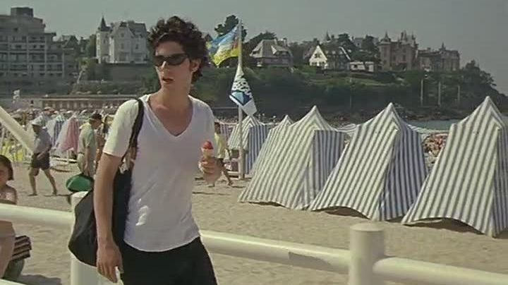 The Beach of The Lock of Dinard in Brittany in the film summer fairy Tale - Movie Outfits and Products
