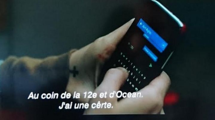 The Blackberry mobile phone seen in the Green Room - Movie Outfits and Products