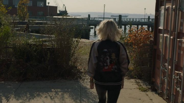 The Bomber japanese style worn by Lou (Cate Blanchett) in Ocean's 8 movie