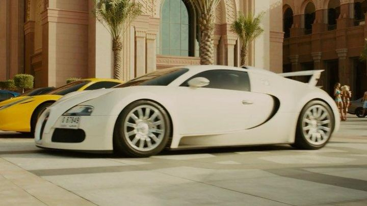The Bugatti of Roman Pierce (Tyrese Gibson) in Fast & Furious 7 movie
