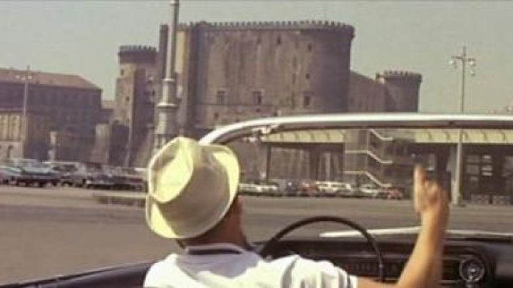 The Castel dell'ovo in Naples in The Corniaud - Movie Outfits and Products