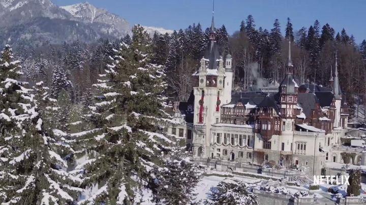 The Castle of Peleș in Romania, royal house of Aldovia in the movie A Christmas Prince - Movie Outfits and Products