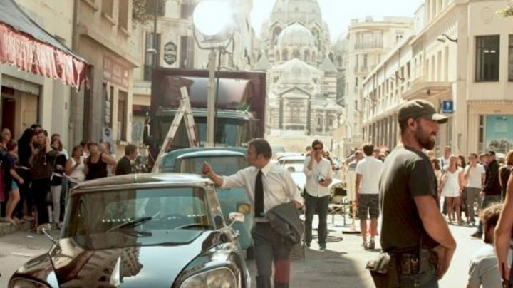 The Cathedral of Sainte-Marie-Majeure de Marseille in the film The French - Movie Outfits and Products