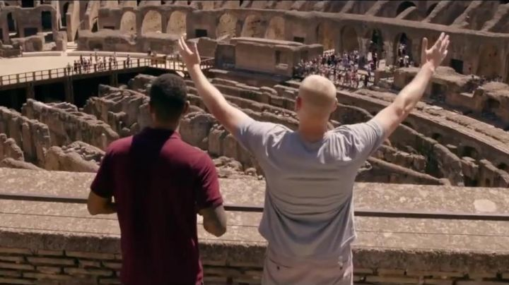 The Colosseum of Rome in The 15:17 to Paris - Movie Outfits and Products