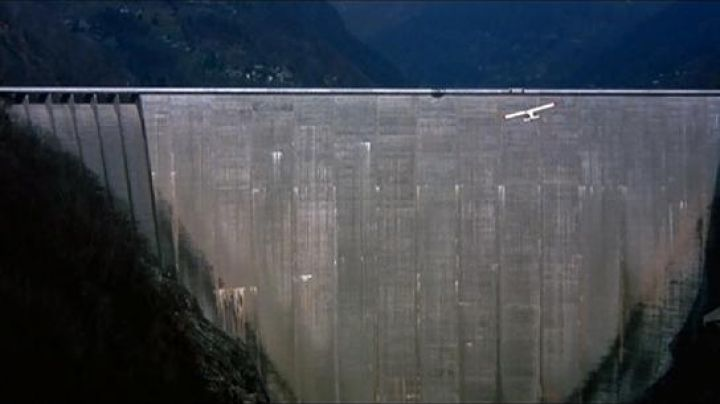 The Dam of Contra in Switzerland in GoldenEye - Movie Outfits and Products