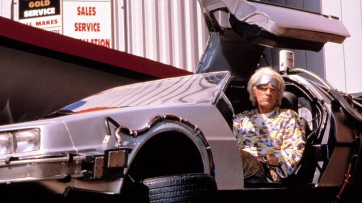 The Delorean DMCEV (Electrical) Doc Brown in Back to the future movie